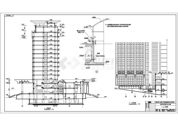 胶州某地多层政府大楼全套施工设计cad图纸-图一