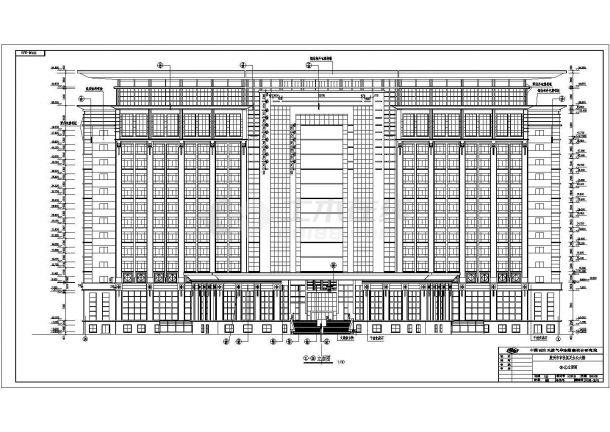 胶州某地多层政府大楼全套施工设计cad图纸-图二