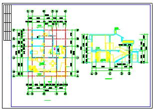 某地农村别墅建筑cad设计图纸-图二