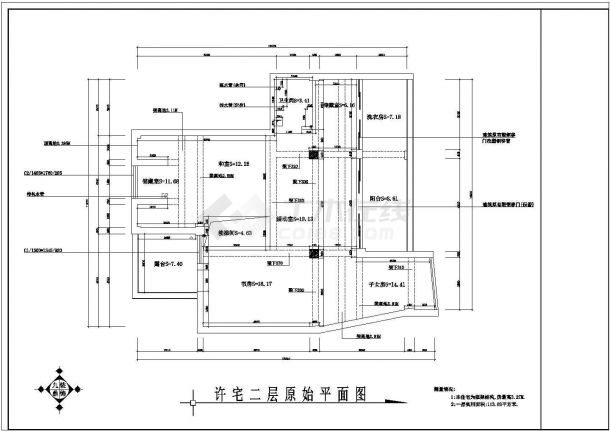 丹阳市某大型豪宅住宅室内家装cad平面图-图一
