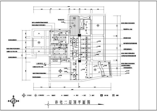 丹阳市某大型豪宅住宅室内家装cad平面图-图二