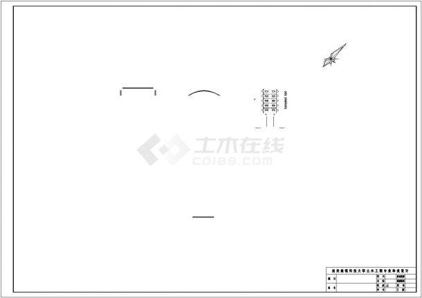 西安市某机械工厂1500平米3层钢框架结构办公楼建筑结构设计CAD图纸-图一