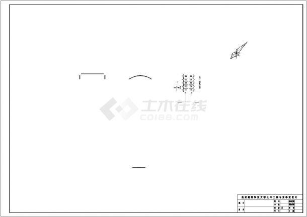 西安市某机械工厂1500平米3层钢框架结构办公楼建筑结构设计CAD图纸-图二