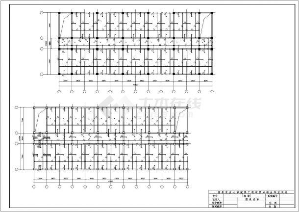 威海市某集团公司3800平米5层框架结构办公楼建筑结构设计CAD图纸-图一