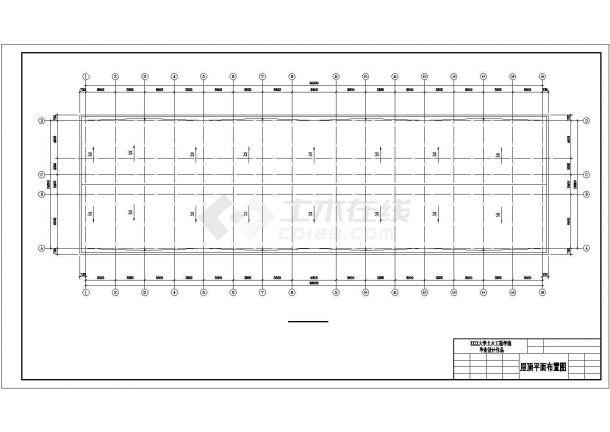 汾阳市科技学院4350平米5层框架结构办公楼建筑结构设计CAD图纸-图一