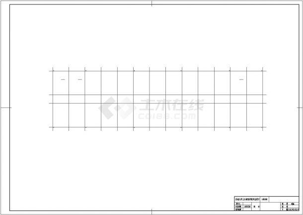 武汉师范大学5600平米5层框架结构办公楼建筑结构设计CAD图纸-图一