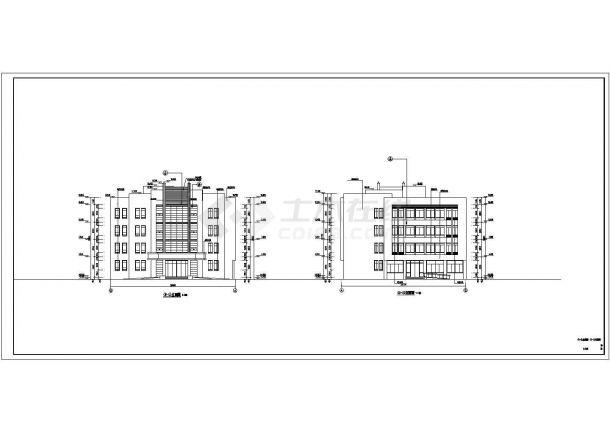 许昌市某公司单位5710平米4层框架结构办公楼建筑结构设计CAD图纸-图一