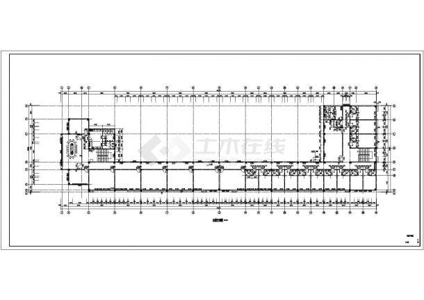 许昌市某公司单位5710平米4层框架结构办公楼建筑结构设计CAD图纸-图二