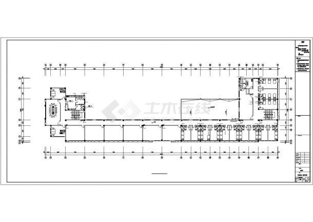 潮州市某建设公司4层框架结构办公楼全套给排水系统设计CAD图纸-图一