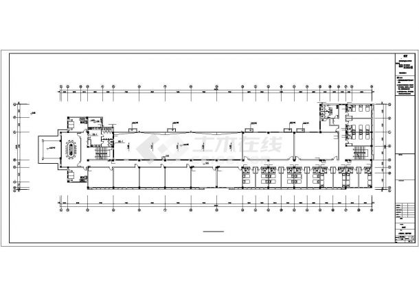 潮州市某建设公司4层框架结构办公楼全套给排水系统设计CAD图纸-图二