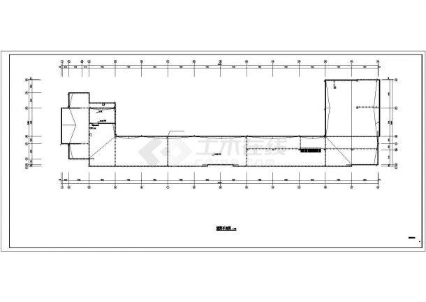 珠海市长兰路某工厂4层框架结构办公楼全套电气系统设计CAD图纸-图一