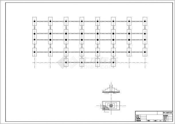 天津市西区某市政单位7680平8层框架结构办公楼建筑结构设计CAD图纸-图一