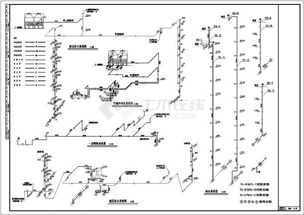办公楼溴化锂空调设计施工图纸-图一