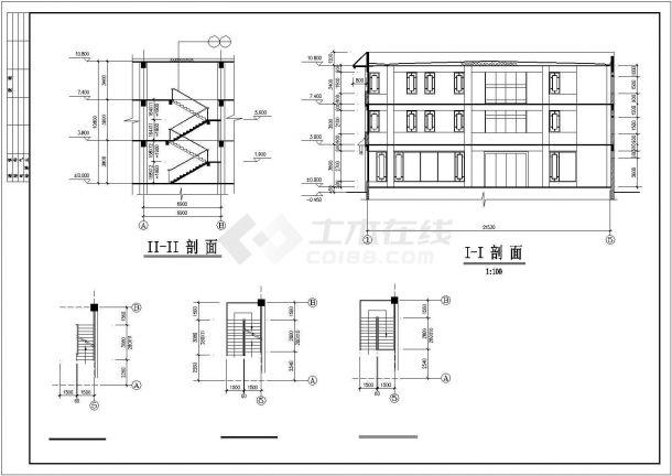 某景区营业厅建筑设计施工CAD图纸-图一