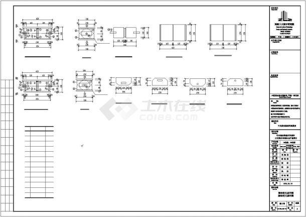 某钢桁架结构栈桥建筑结构设计施工CAD图纸-图一