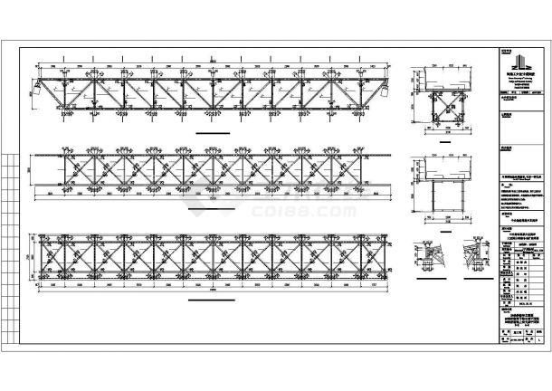 某钢桁架结构栈桥建筑结构设计施工CAD图纸-图二