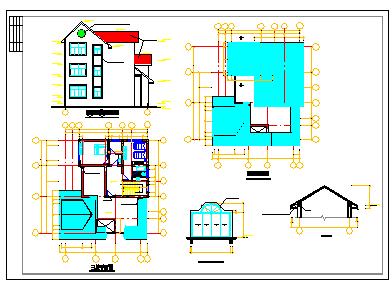 某别墅结构建筑方案cad设计图-图一