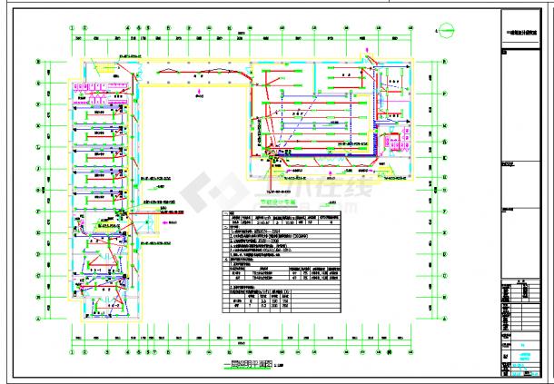 某地江苏某科技公司员工宿舍楼电气设计CAD施工图纸-图一
