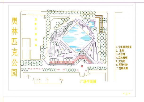某地景观节点平面图-公园设计图集CAD施工图纸-图一
