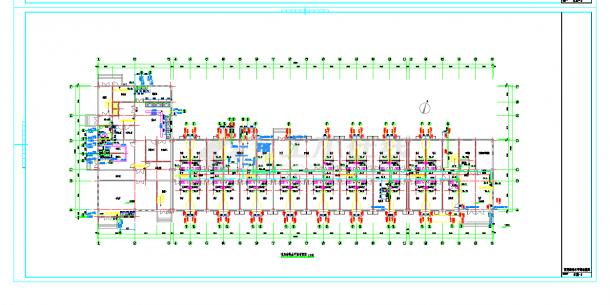 某地某多层宿舍楼给排水设计CAD施工图纸-图二