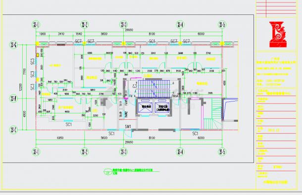 某地高端住宅小区售楼中心设计含效果图CAD施工图纸-图一