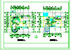 欧式别墅全套cad建筑设计方案图-图一