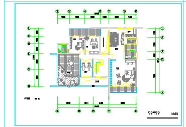 某欧式小别墅建筑方案cad设计图纸-图二