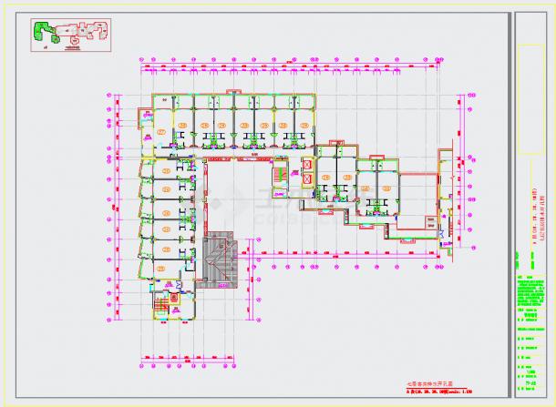 某地旅游胜地核心区域高档温泉酒店设计施工图含效果图CAD图纸-图一