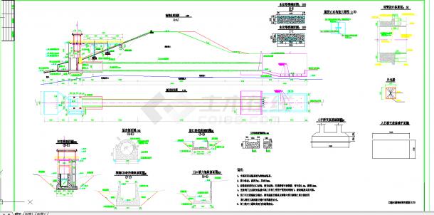 广东水库除险加固工程输水涵闸施工图CAD图纸-图二