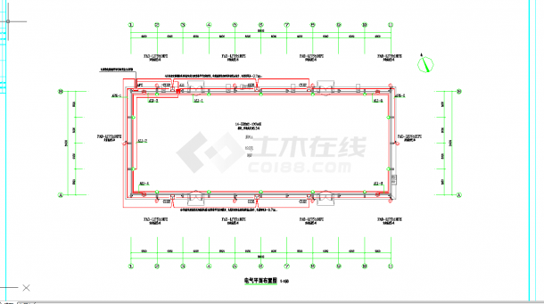 某地1500平粮仓电气施工图CAD图纸-图一