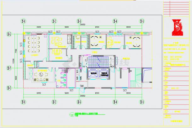 某地高端住宅小区售楼中心设计施工图含效果图CAD图纸-图一