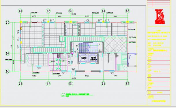 某地高端住宅小区售楼中心设计施工图含效果图CAD图纸-图二