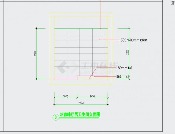 成都高档四星级花园酒店咖啡厅施工图含效果CAD图纸-图二