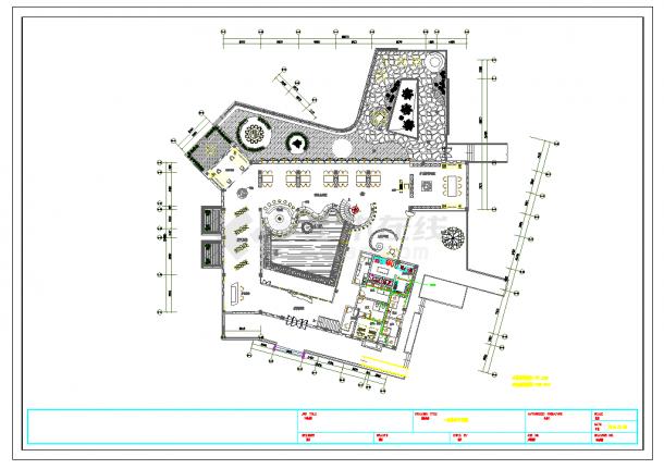广东生态茶室给排水施工图CAD图纸-图一