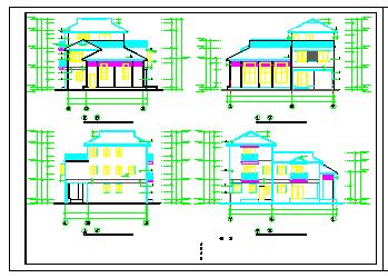 某地小型别墅cad建施设计图纸-图二