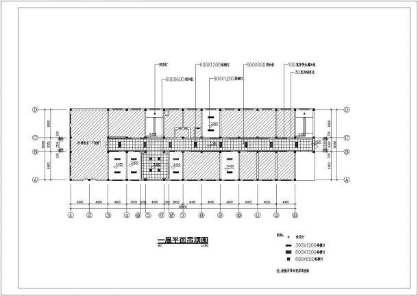 浙江某技术学校大楼室内装饰装修cad平面设计施工图-图二