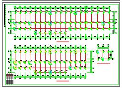 某综合楼框架结构CAD设计施工图纸-图一