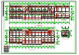 某综合楼框架结构CAD设计施工图纸-图二