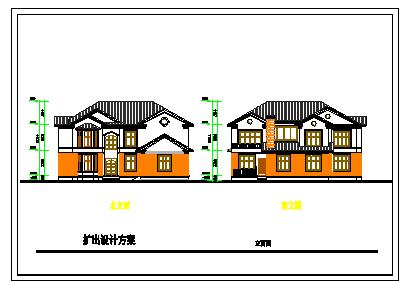 一份别墅建筑方案cad设计图纸-图一
