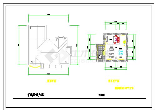 一份别墅建筑方案cad设计图纸-图二