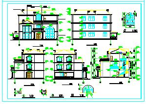 一套豪华别墅建筑cad设计施工图-图二