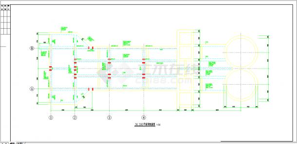 某地某污水处理厂施工图全套CAD图纸-图一