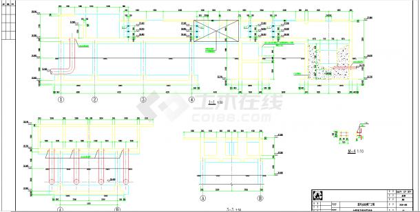 某地某污水处理厂施工图全套CAD图纸-图二