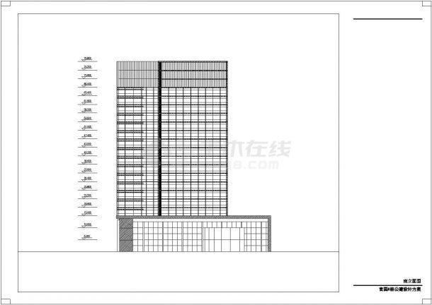 延安官园综合楼设计方案底商私人住宅楼设计CAD详细建筑施工图-图二