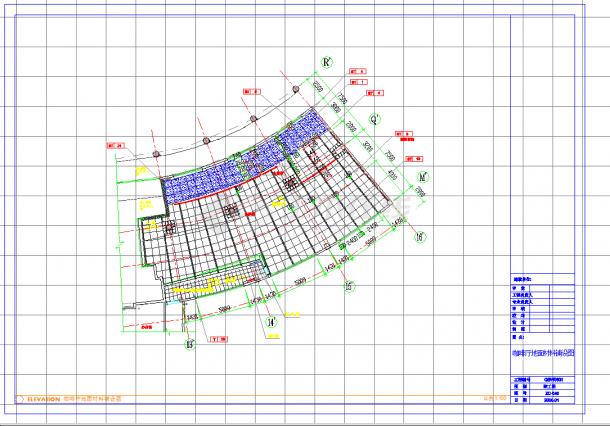 某地星级酒店咖啡厅施工图CAD图纸-图一