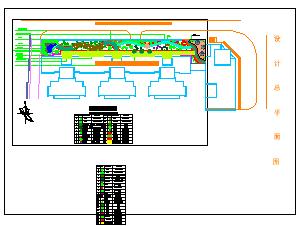 汇泽影院屋顶花园园林绿化设计cad平面图-图二