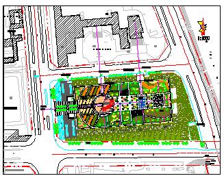 某家具广场屋顶花园设计cad平面图纸-图一