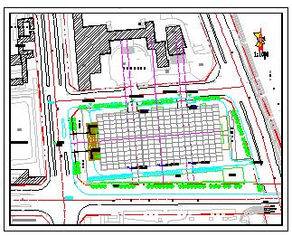 某家具广场屋顶花园设计cad平面图纸-图二