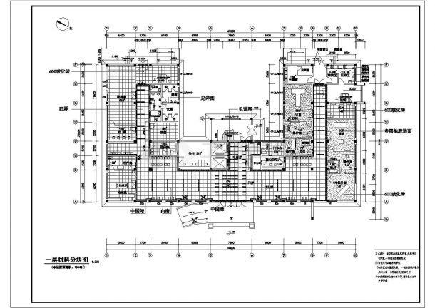 某医院一层室内装饰工程cad施工图-图二