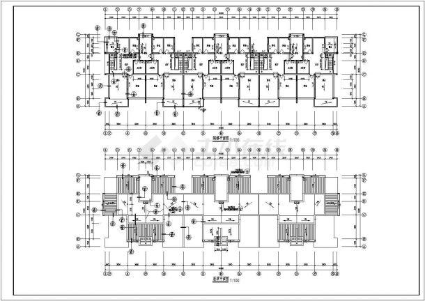多层单身公寓建筑设计施工图-图一